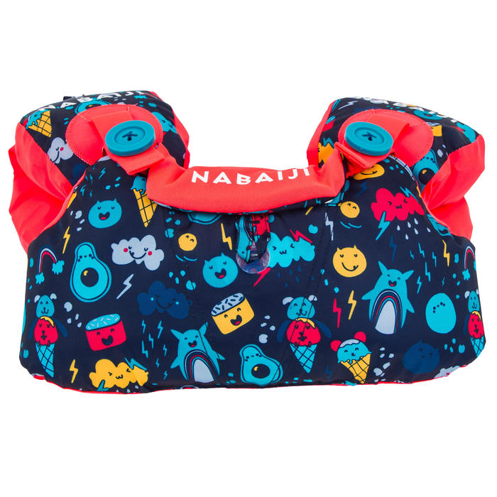 Modulaire zwemhulp TISWIM voor kinderen donkerblauw met print