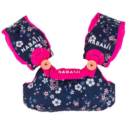 "Swimming TISWIM adjustable pool armbands-waistband for kids - blue ""Fleurs"""
