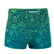 BOY'S FITIB SWIMMING BOXER SHORTS - ALL CITY BLUE YELLOW
