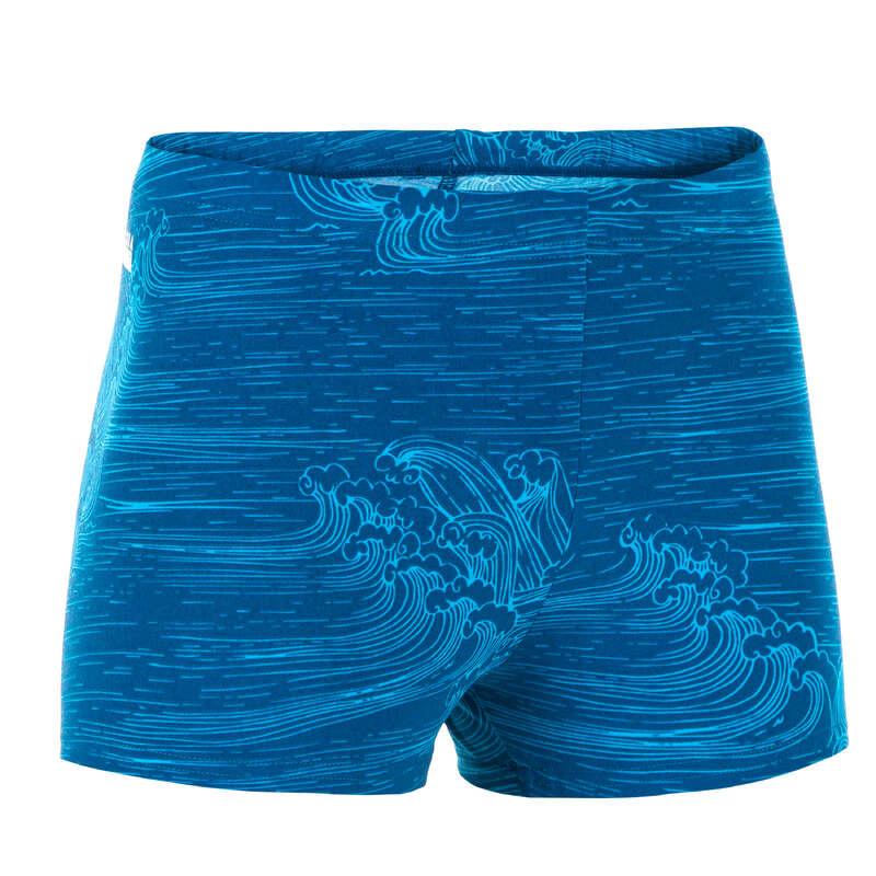 Chlapčenské boxerkové plavky modré vlna