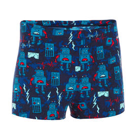 SWIMSUIT BOXER BOY 500 FITIB ALL ROBOT RED BLUE