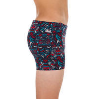 SWIMSUIT BOXER BOY 500 FITIB ALL MASK RED BLUE