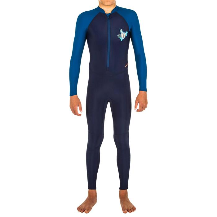 Boy's Swimming Wetsuit Swimsuit 100 - Mask Blue