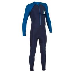 Boy's Swimming costume UV Full sleeves full legs - Blue