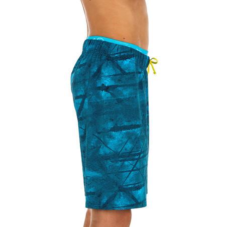CELANA PENDEK RENANG ANAK LAKI-LAKI 100 - LONG TEX BLUE