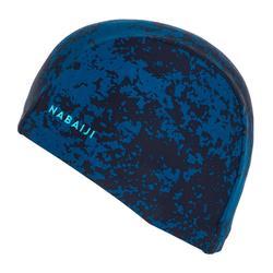 Stoffen badmuts print maat L all hide blauw