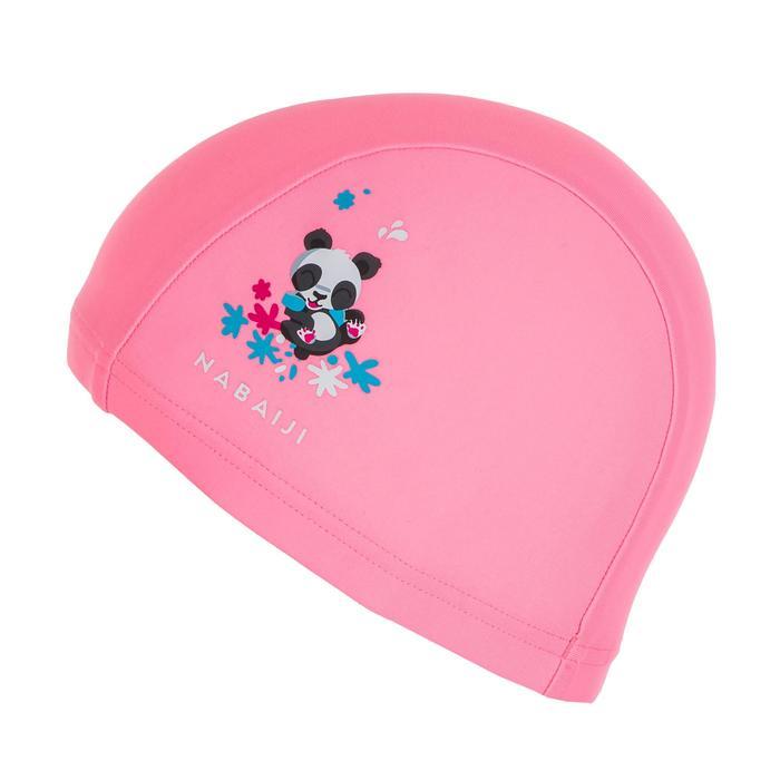 Bonnet de bain bébé imprimé pandas rose clair en maille