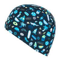 Mesh Swim Cap Print Size S all playok black