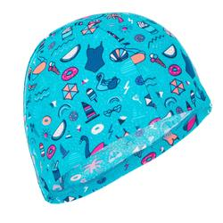 Mesh Swim Cap Print Size S all playana light blue