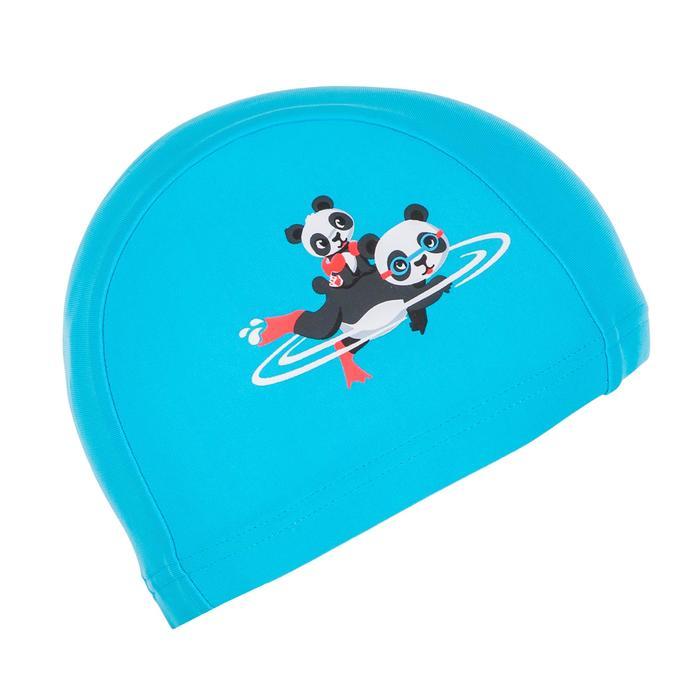 Bonnet de bain bébé imprimé pandas bleu clair en maille