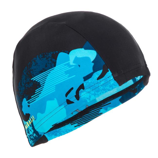 Swim cap mesh size large - printed blue