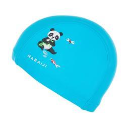 Badmuts in textiel voor peuters print panda's lichtblauw