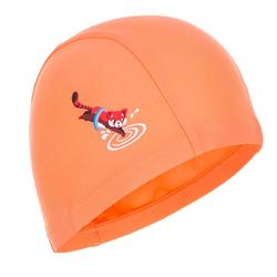 Touca de natação malha estampada tamanho S red panda laranja