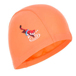 Swim cap mesh size small - printed coral red panda