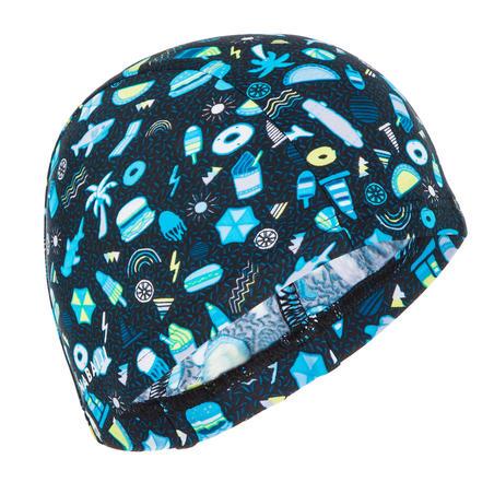 Bonnet de bain maille print taille S all playok black