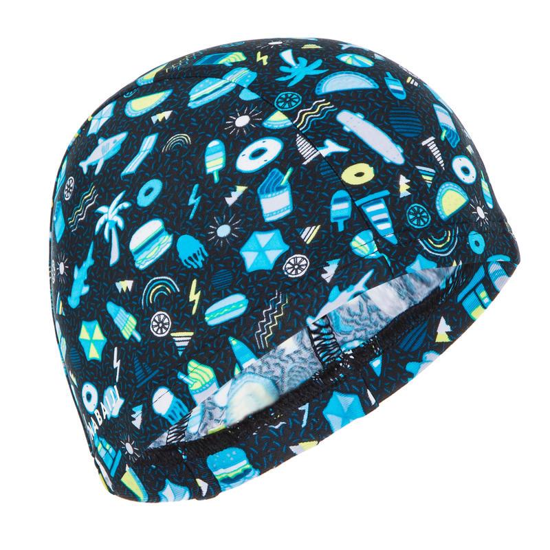 Topi Renang Mesh Motif ukuran S all playok hitam