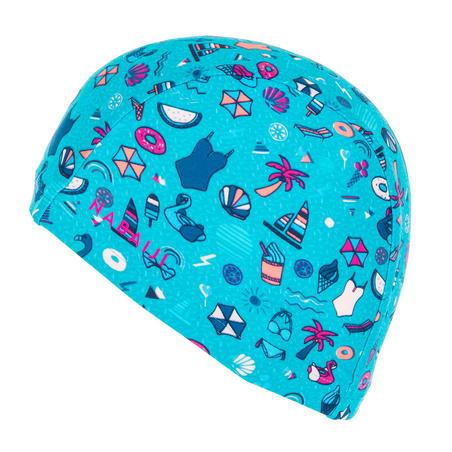 Mesh Swim Cap Print Size S all playana light blue