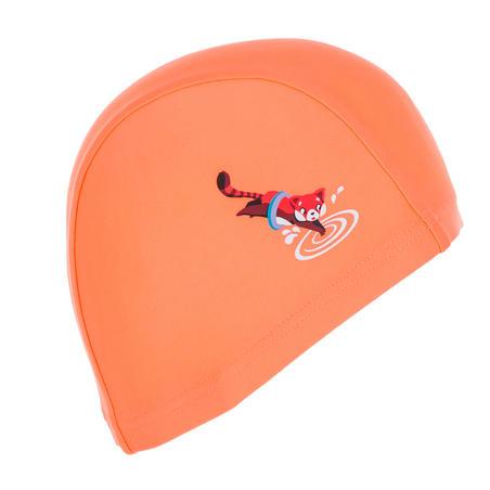 Topi Renang Mesh Motif Panda Ukuran S merah jingga