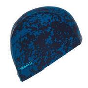 Mesh Swim Cap Print Size L All hide blue