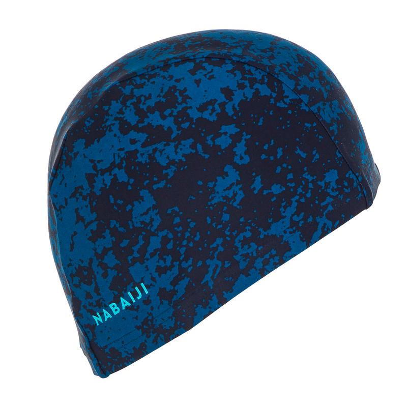 หมวกว่ายน้ำผ้าตาข่ายขนาด L (พิมพ์ลาย All hide สีน้ำเงิน)