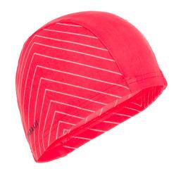 Swim cap mesh size large - printed coral