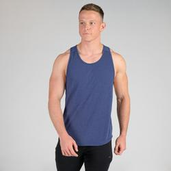 Débardeur stringer musculation bleu
