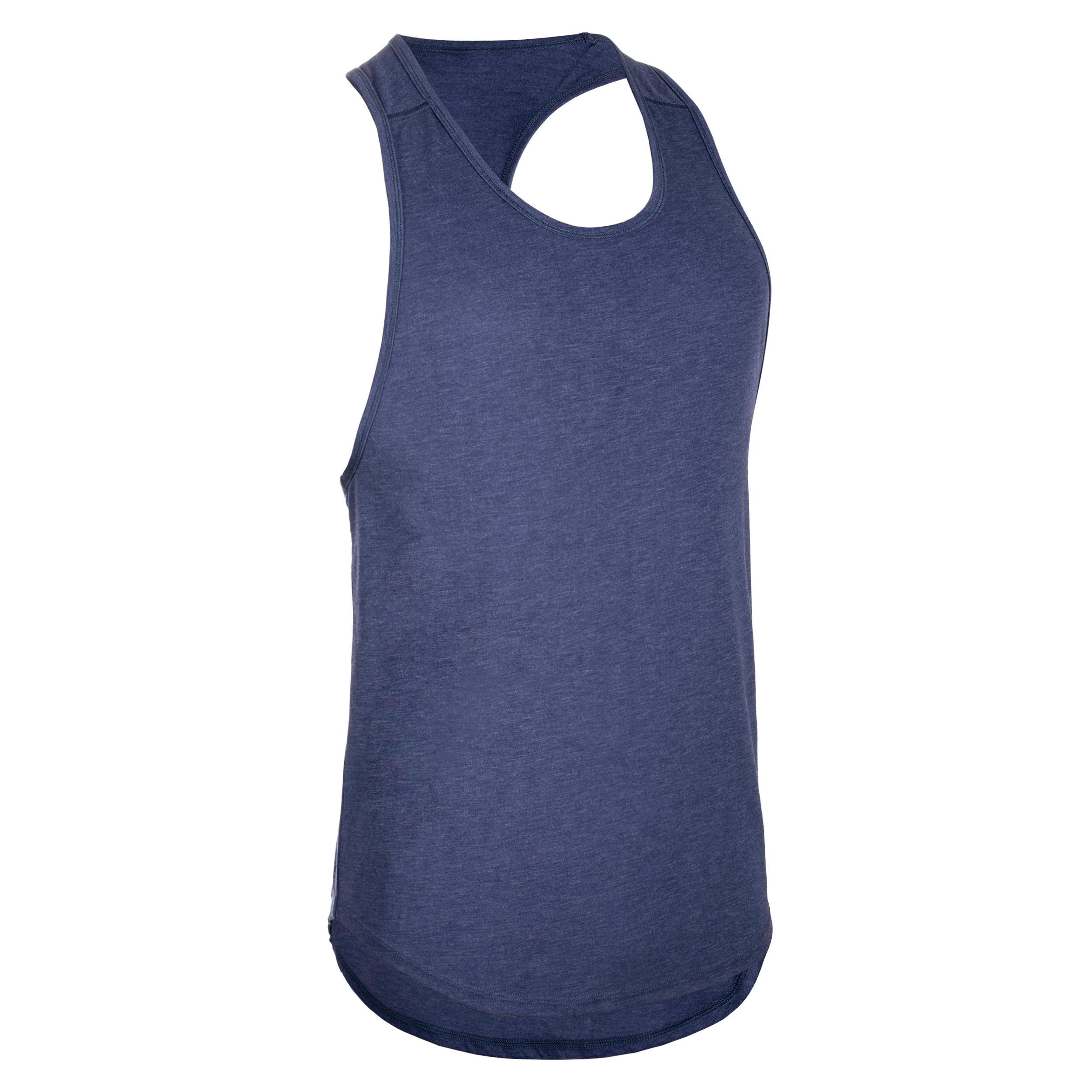 TCA Débardeur sans manches T-shirt bleu marine anti bactérienne Tissu Doux au toucher Gym Run
