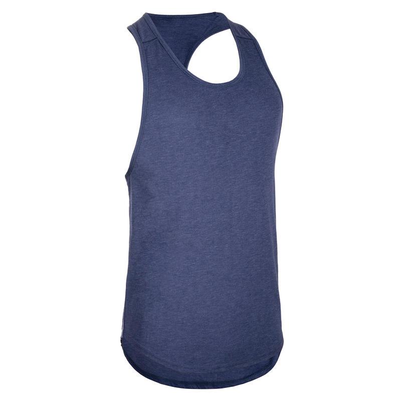 Canotta uomo stringer bodybuilding azzurra