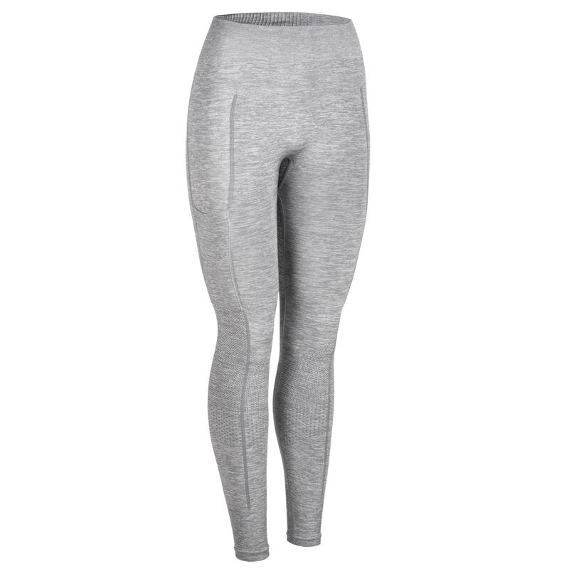 Women's Weight Training Push-Up Leggings with Pocket - Grey