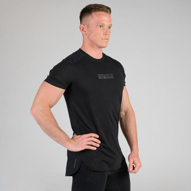 Weight Training Chest Day T-Shirt - Black