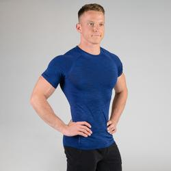T SHIRT COMPRESSION MUSCULATION BLEU