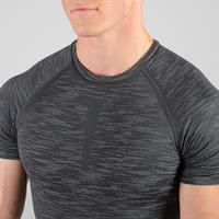 Weight Training Compression T-Shirt - Grey