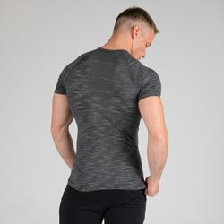 T SHIRT COMPRESSION MUSCULATION GRIS