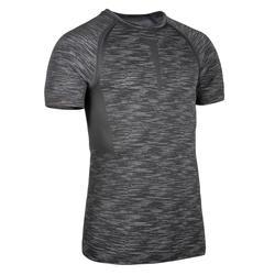 Kompressionsshirt Fitness Cardio grau meliert