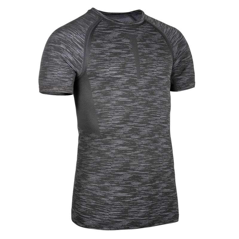 HANDSKAR, BÄLTEN, KLÄDER - T-shirt kompression Herr grå DOMYOS