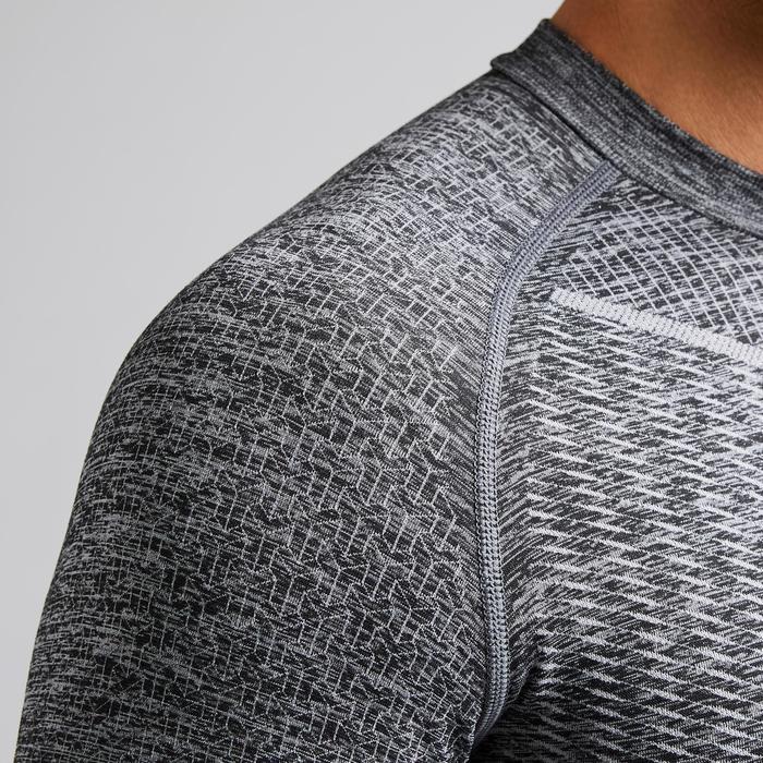 Thermoshirt Keepdry 500 lange mouw gemêleerd grijs