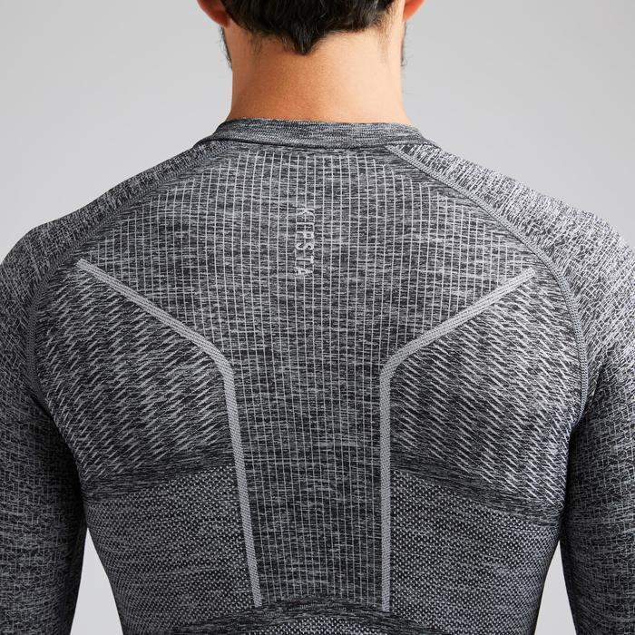 Camiseta Térmica Kipsta Keepdry 500 adulto gris jaspeado