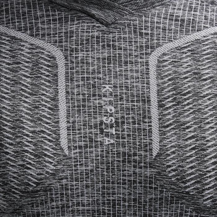 Funktionsshirt lang Keepdry 500 atmungsaktiv Erwachsene grau