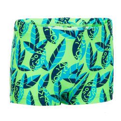 Zwemboxer peuter groen met print