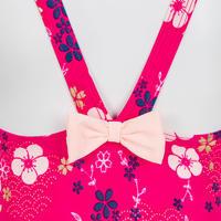 Baby Girls' One-Piece Swimsuit - Pink Flower Print