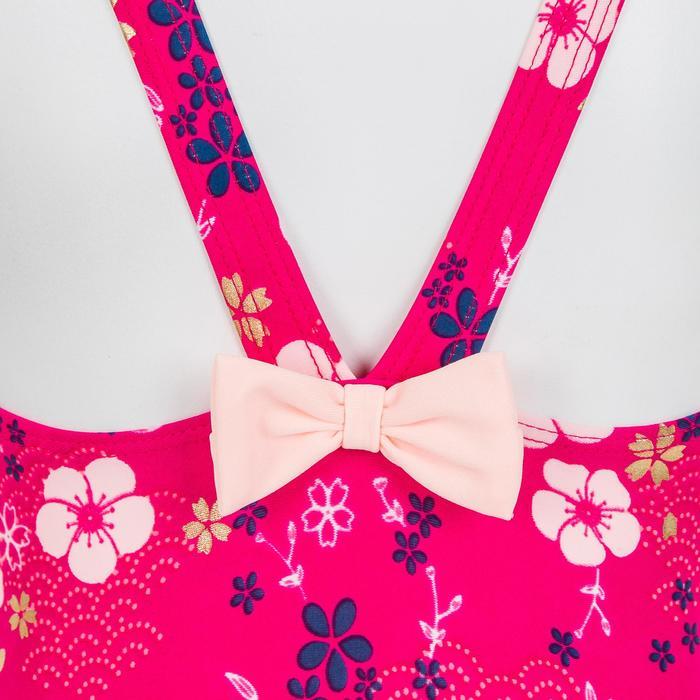 Maillot de bain 1 pièce bébé fille rose imprimé fleurs