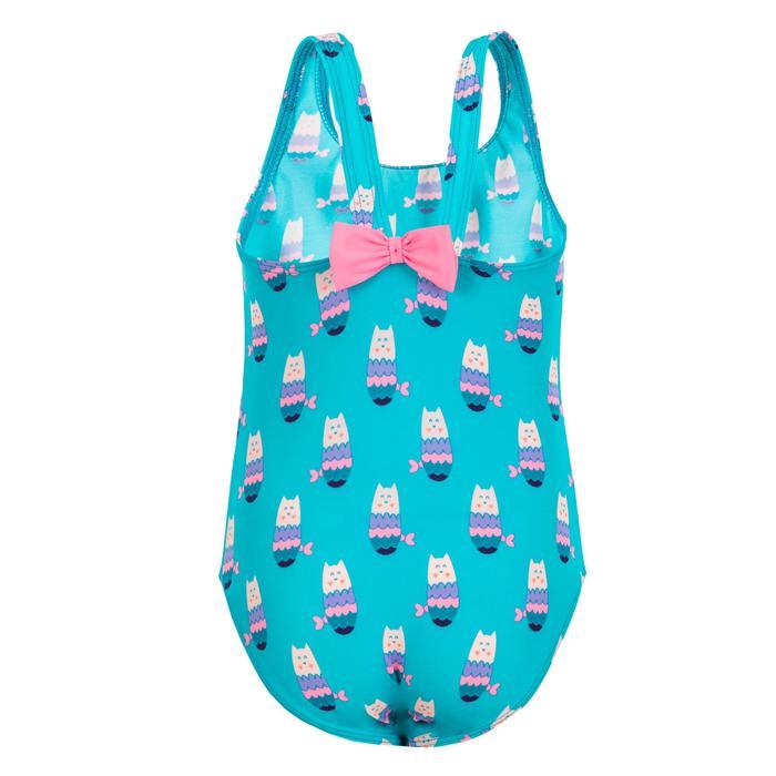 Maillot de bain 1 pièce bébé fille bleu imprimé Chats sirènes