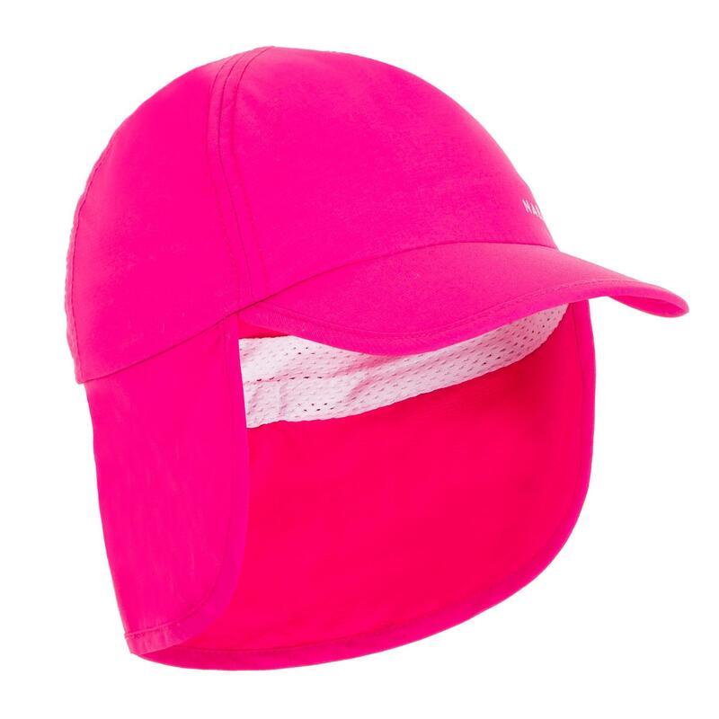 Boné anti UV bebé nadador rosa