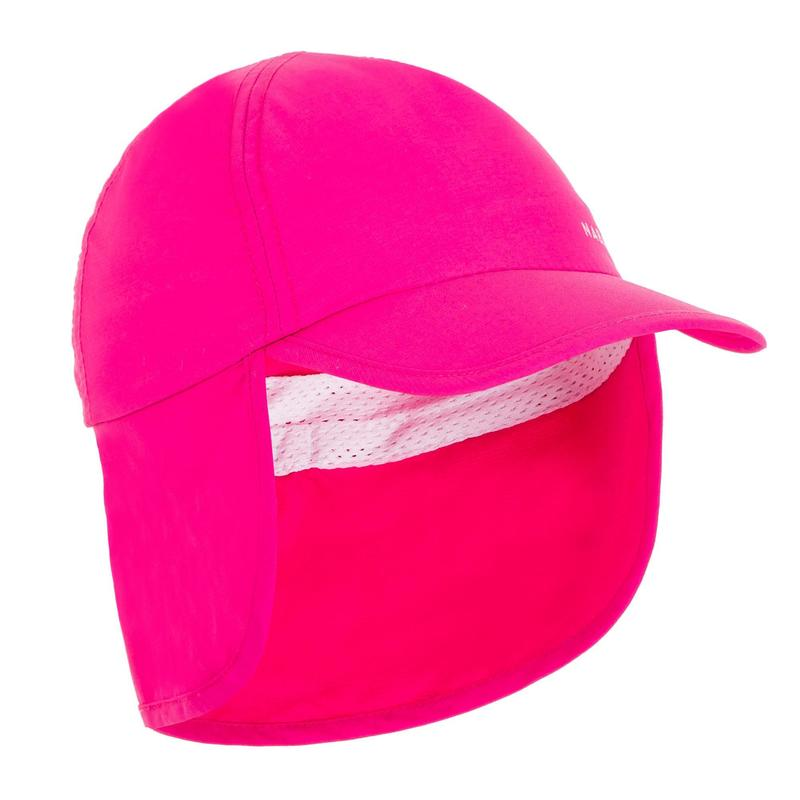 Casquette anti UV bébé nageur rose