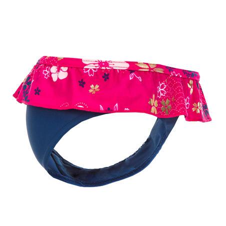 Baby One-Piece Swim Briefs Swimsuit Bottoms - Blue Flower Print
