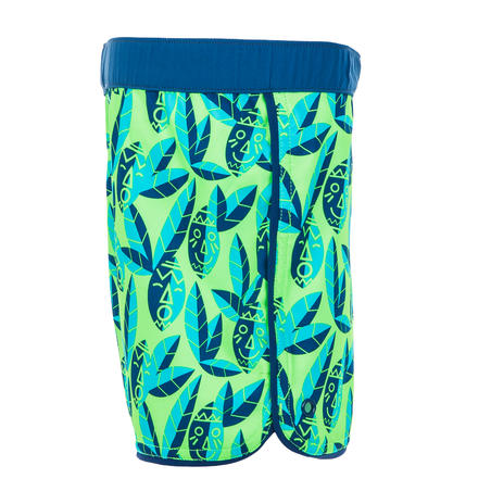 Baby Short Swim Shorts - Green Print