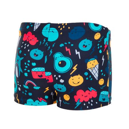 Baby Boys' Boxer Swim Shorts - Dark Blue Print