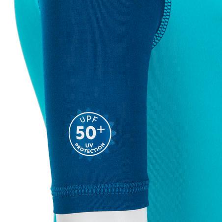 Pakaian Renang Lengan Pendek Perlindungan UV Batita - Motif Biru