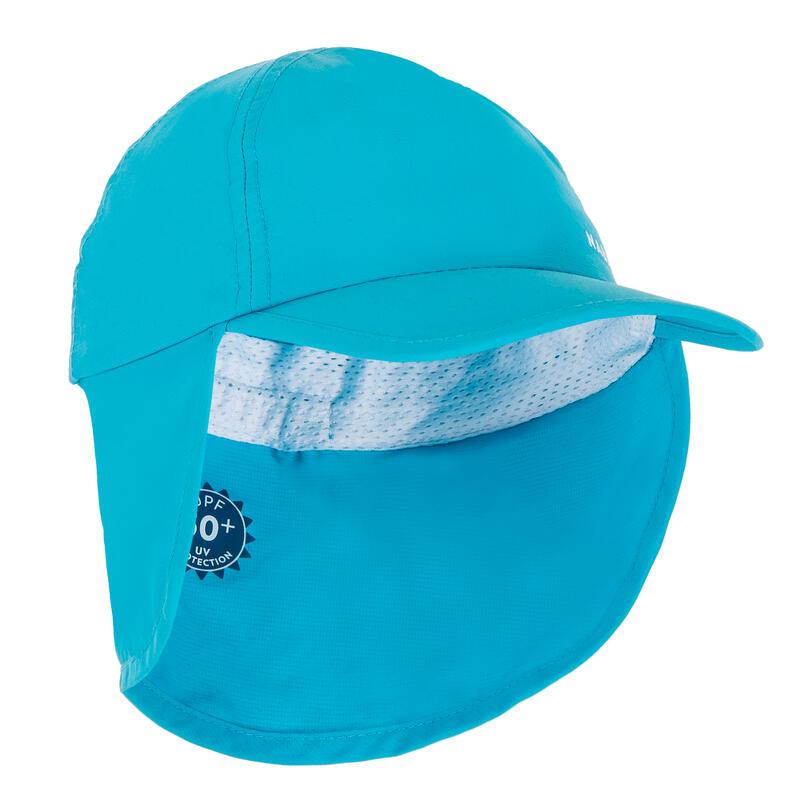 Boné anti UV bebé nadador azul