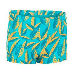 Zwemboxer peuter blauw met print